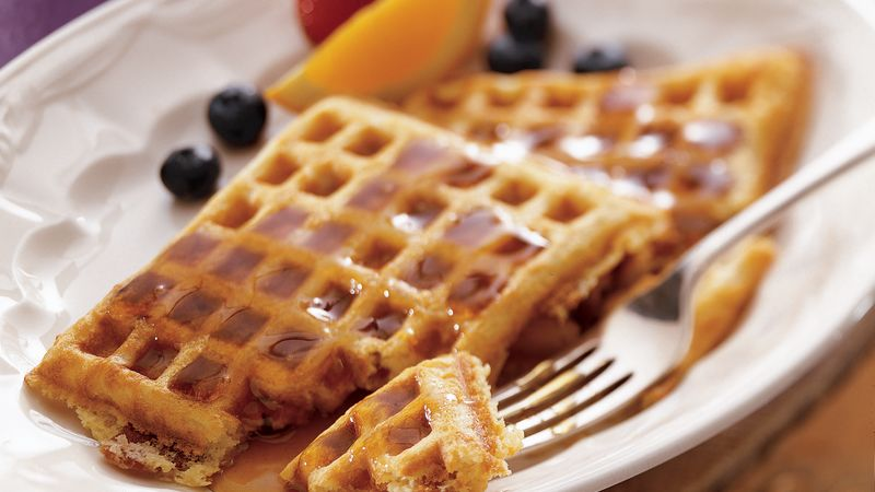 Bacon Buttermilk Waffles