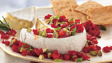 Camembert with Balsamic Bell Peppers