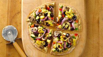 Gluten-Free Hummus and Veggie Pizzettas