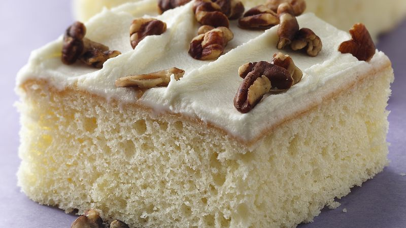 White Chocolate Sheet Cake with White Chocolate Frosting recipe from ...