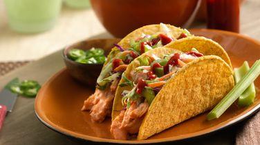 Buffalo Chicken Ten Minute Bold Ranch Tacos