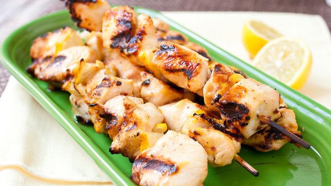 Grilled Dijon Lemon Chicken Kabobs