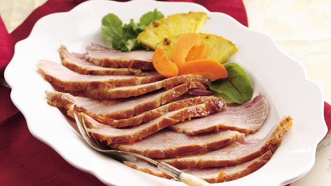 Apricot-Bourbon Glazed Ham