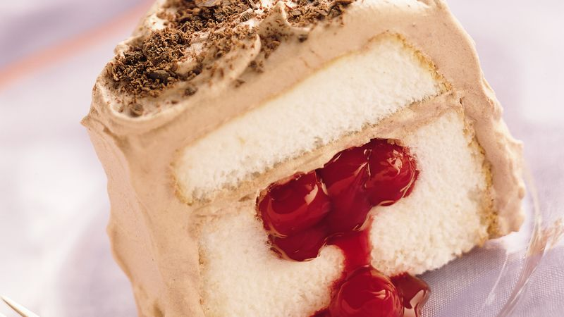 Chocolate-Cherry Filled Angel Food Cake
