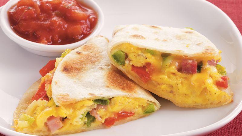 Western Omelet Quesadillas