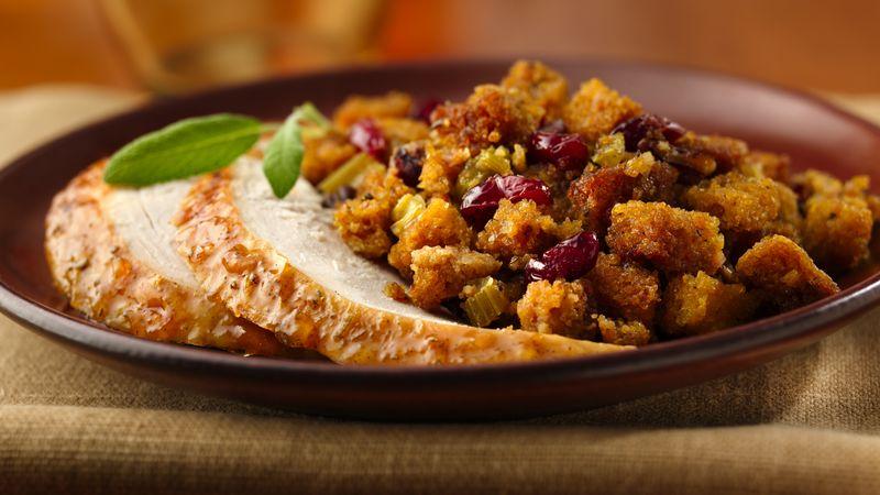 Orange-Glazed Roast Turkey with Gluten-Free Cranberry-Orange Stuffing