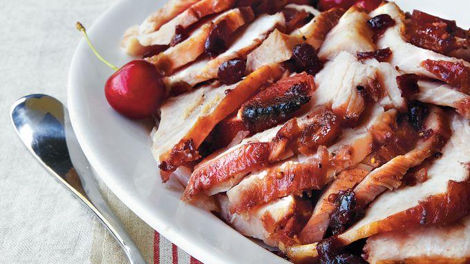 Ham with Bourbon-Cherry Glaze