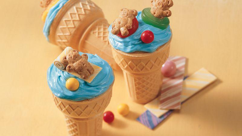 Beary Fun Cupcake Cones