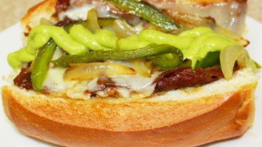 Philly Cheesesteak with Guasacaca