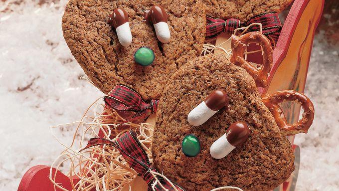 Reindeer Ginger Cookie Pops