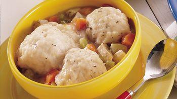 Chicken Stew with Lemon-Thyme Dumplings