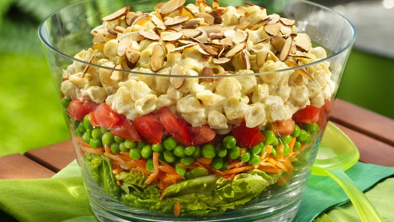 Layered Curry Pasta Salad