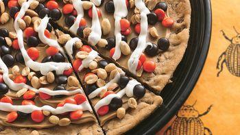 Peanutty Halloween Cookie Pizza