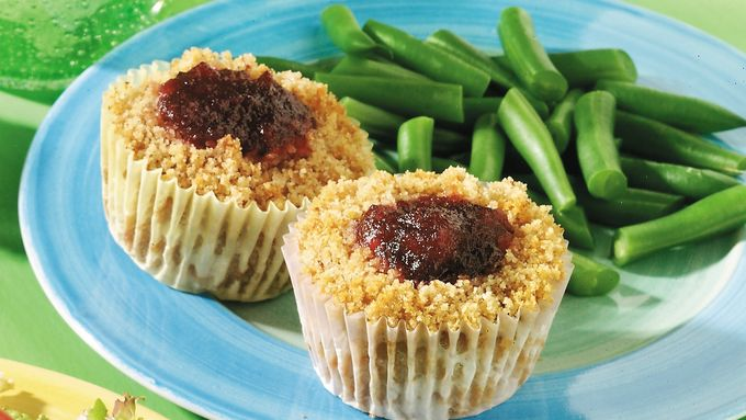Mini Turkey and Cranberry Meatloaves