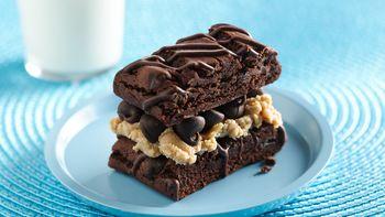 Peanut Buttery Brownie Sandwich