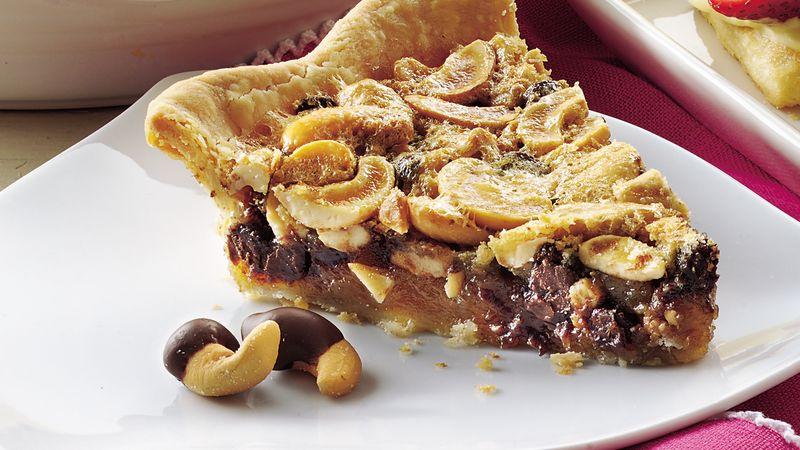 Chocolate-Cashew Pie recipe from Betty Crocker
