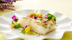 Lavender Sea Bass Fillet with Couscous