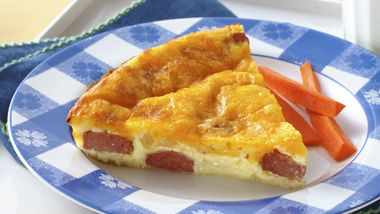 Impossibly Easy Hot Dog and Cheese Pie