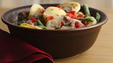 Beef and Potatoes Skillet Stroganoff
