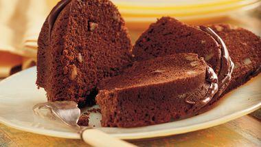 Chocolate Pecan Bourbon Cake