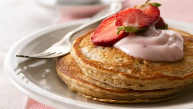 Whole-Grain Strawberry Pancakes