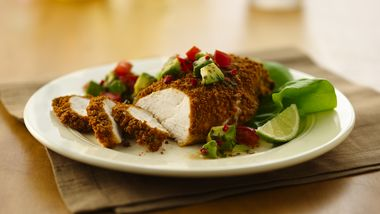 Lime Cumin-Crusted Chicken with Avocado Salsa