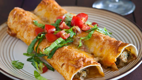 Turkey and Zucchini Enchiladas