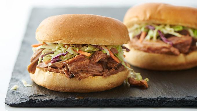 Slow Cooker Root Beer Pork Sandwiches
