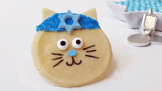Hanukkah Cat Cookies