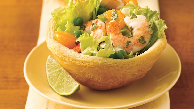 Mojito Shrimp Salad in Biscuit Bowls
