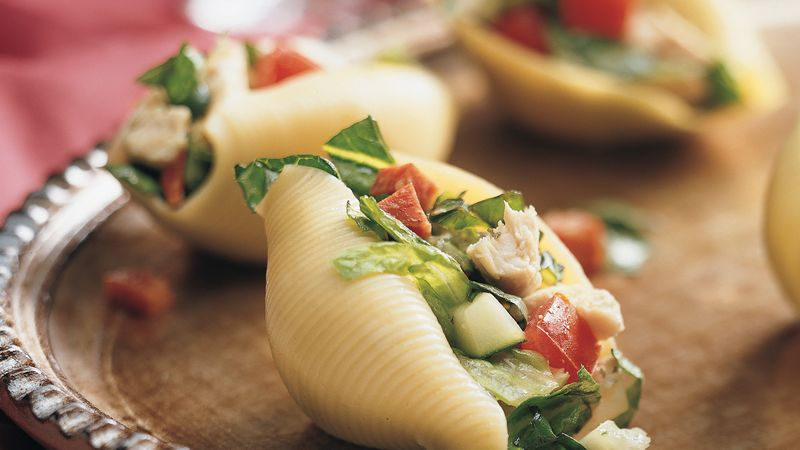 Italian Chop Salad in Shells