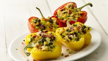 Paleo Gluten-Free Cauliflower Stuffed Peppers