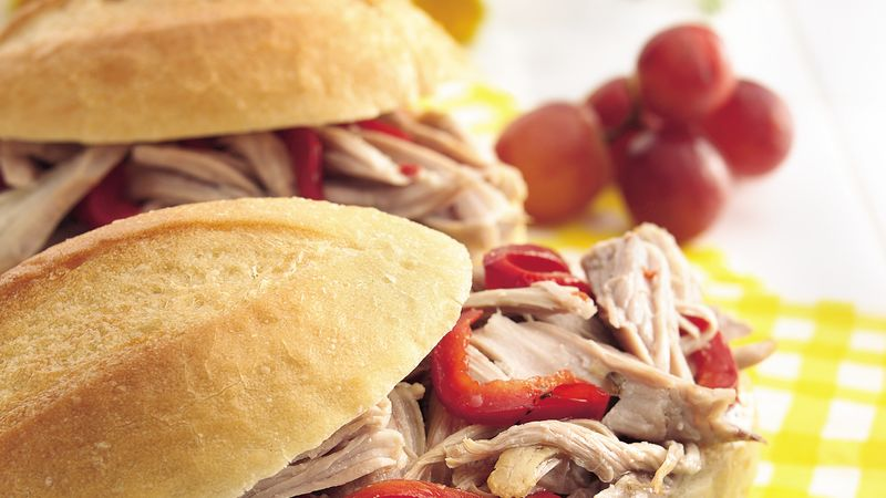Slow-Cooker Italian Turkey Sandwiches