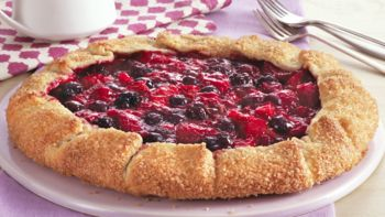Triple Berry and Rhubarb Galette