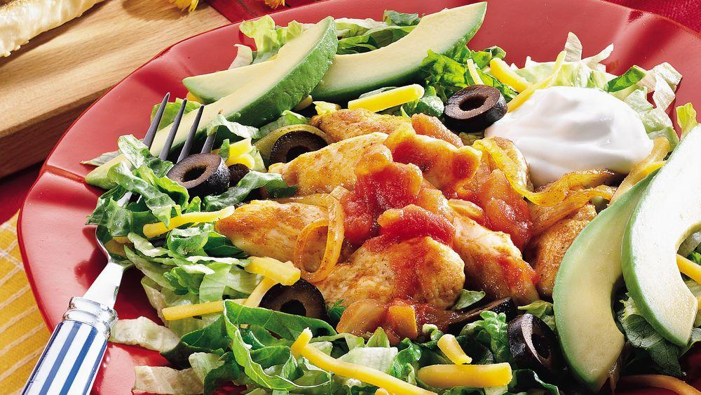 Chicken Taco Salad with Avocado