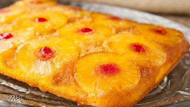 Pineapple Upside-Down Rum Cake