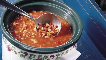 Slow-Cooker Easy Multi-Bean Soup