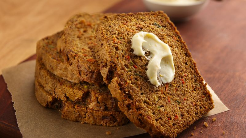 Zucchini-Carrot Bread with Creamy Honey Spread