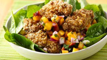 Crispy Peach Chicken Salad