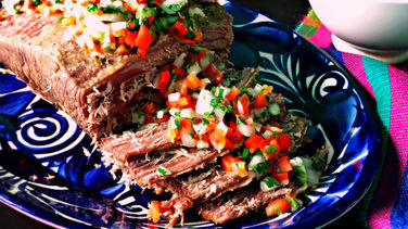 Roast Beef with Pebre Sauce