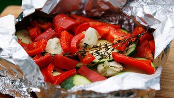Grilled Butter-Herb Vegetable Foil Pack