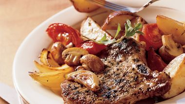 Gluten-Free Roasted Pork Chops and Vegetables