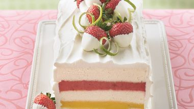 Mango-Strawberry Sorbet Torte