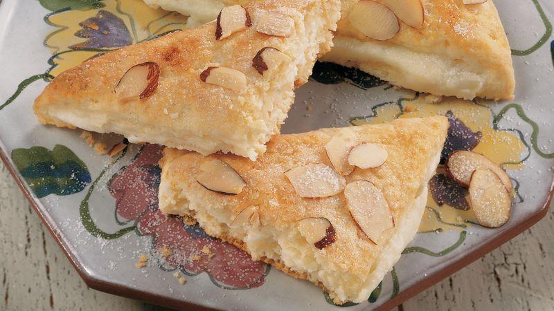 Almond-Cream Cheese Triangles