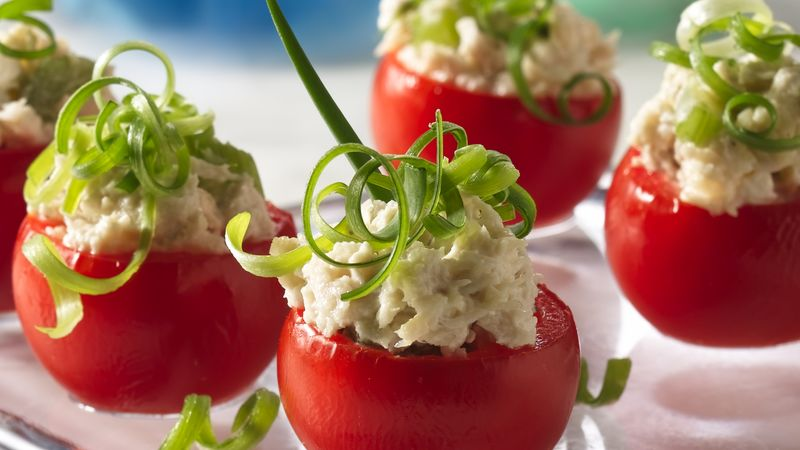 Chicken Salad-Stuffed Tomato Appetizers