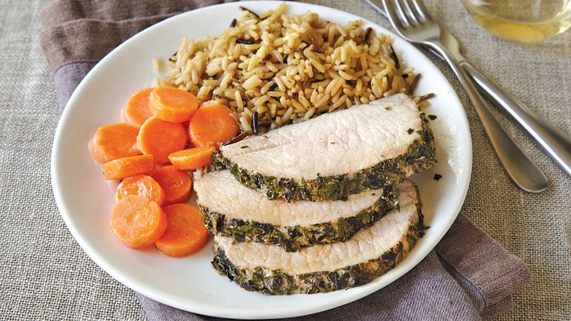Herbed Pork Loin Roast recipe from Betty Crocker