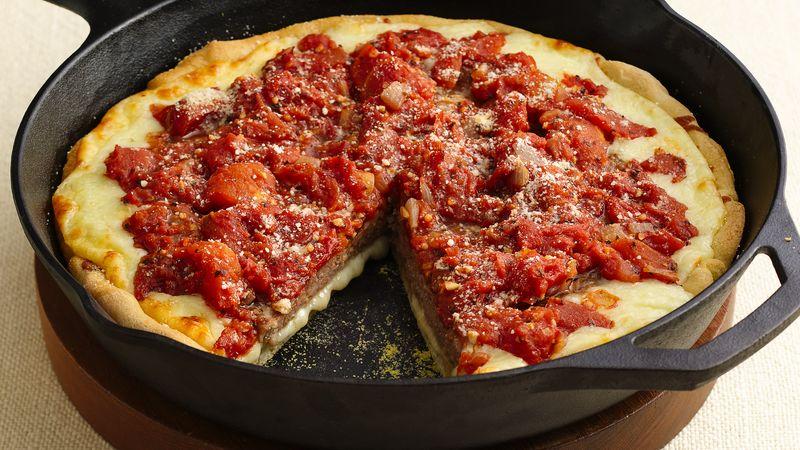 Deep-Dish Sausage Patty Pizza