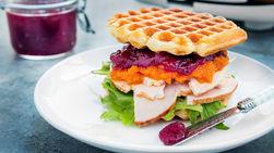Everything Waffle Sandwiches
