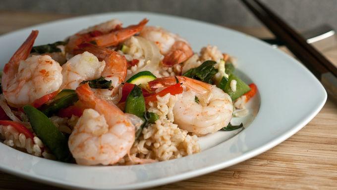 Thai Basil Shrimp Foil Packs