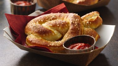 Pizza-Filled Pretzels
